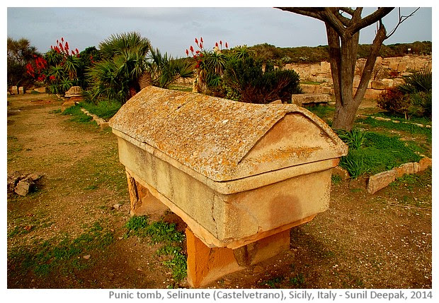 Punic tomb, Acropolis, Selinunte, Castelvetrano, Sicily, Italy - images by Sunil Deepak, 2014