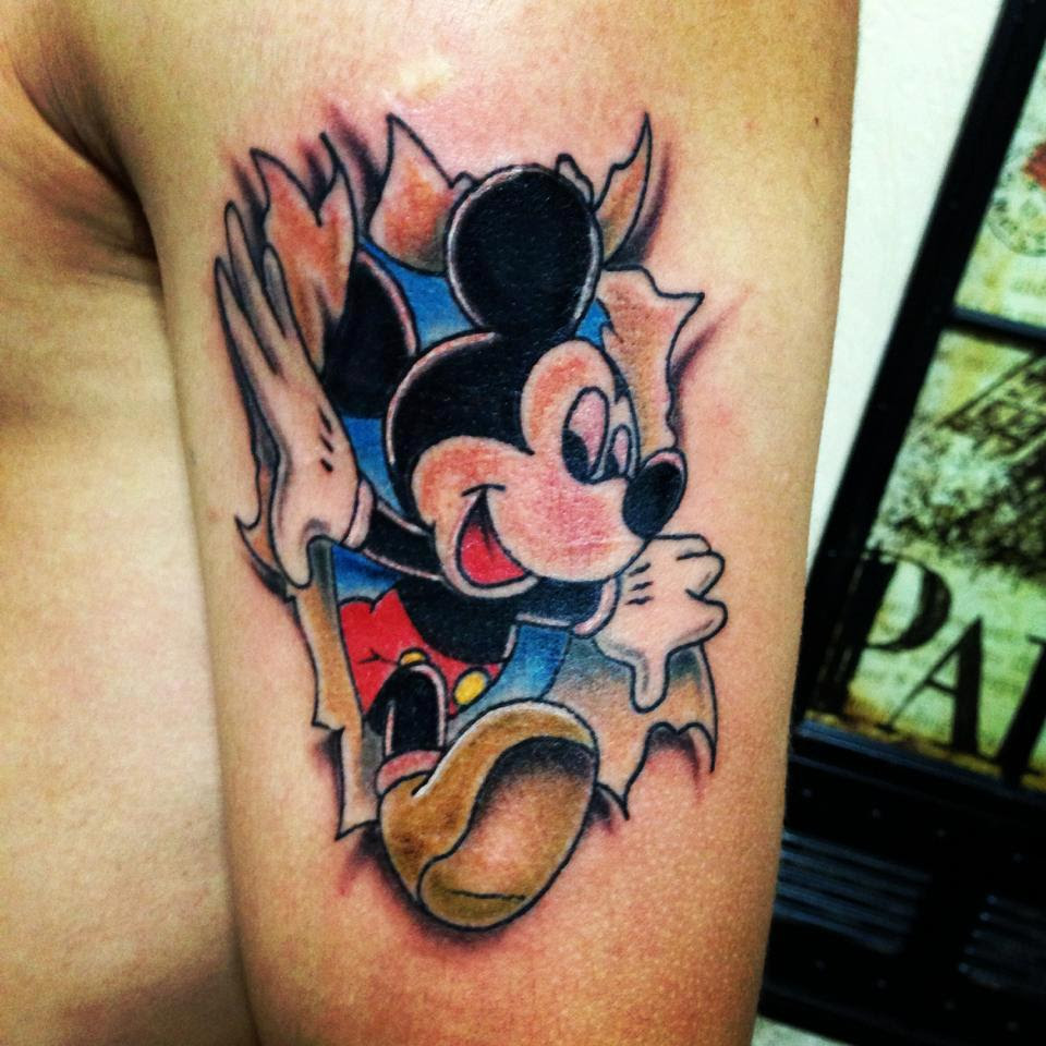 Lovely Mickey Mouse Tattoo