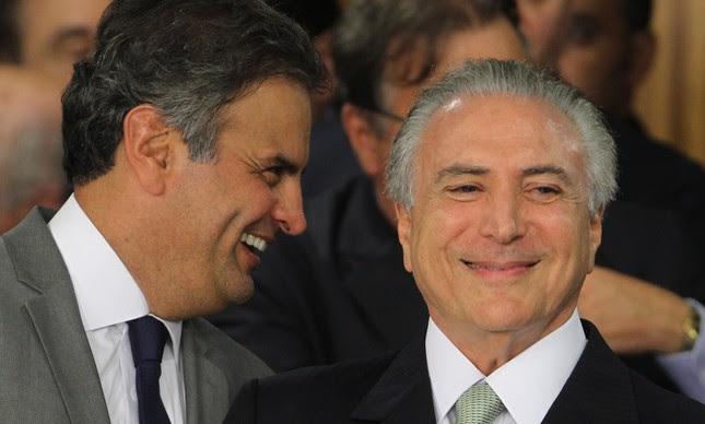 Michel Temer e Aécio neves | Foto: Givaldo Barbosa/ O Globo