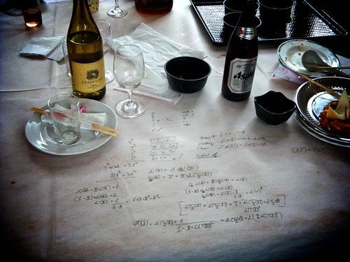 A mathematician's dinner still life