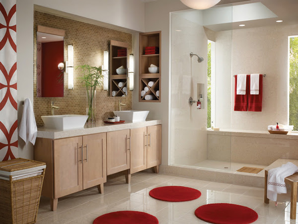 Bathrooms Designs 2013 In Delta Faucets Red Accent Bathroom The Best Bathrooms Design Ideas 2013 Collectionphotos 2017 20132014