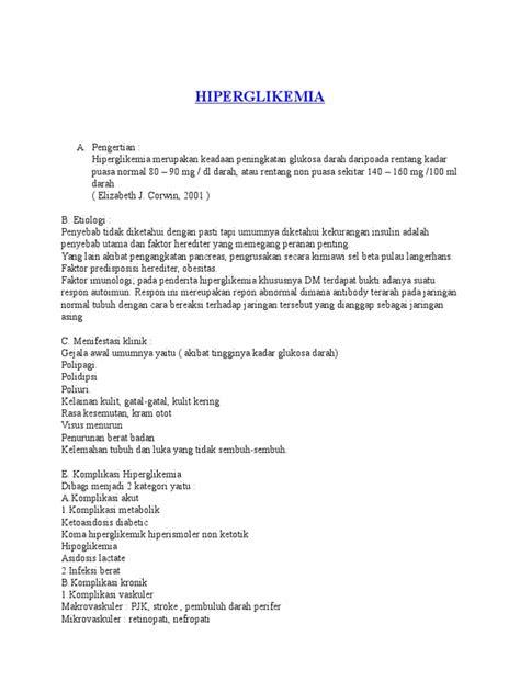 Askep Pasien Dengan Hiperglikemia