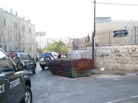 itf blocking street leading to al hakawati