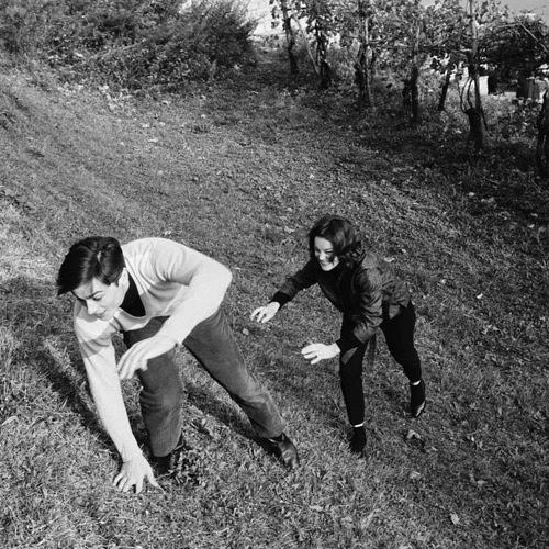 Alain Delon y Romy Schneider.