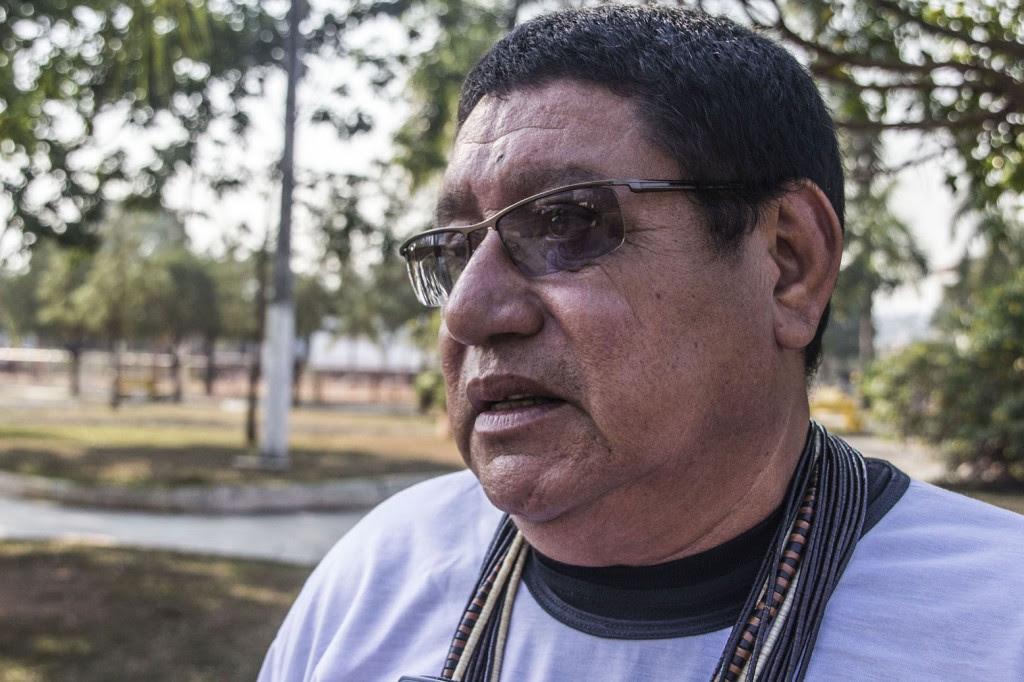 O cacique Nacoça Pio Cinta Larga defende a legalização do garimpo de diamantes. (Foto: Marcela Bonfim/AmReal)