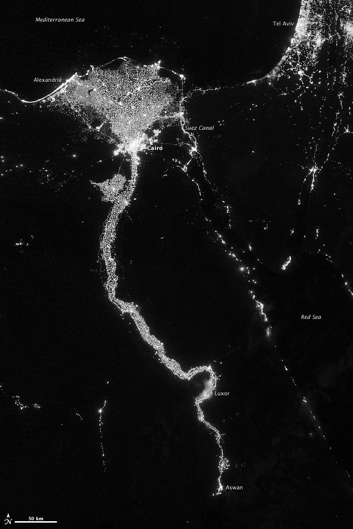 City Lights Illuminate the Nile