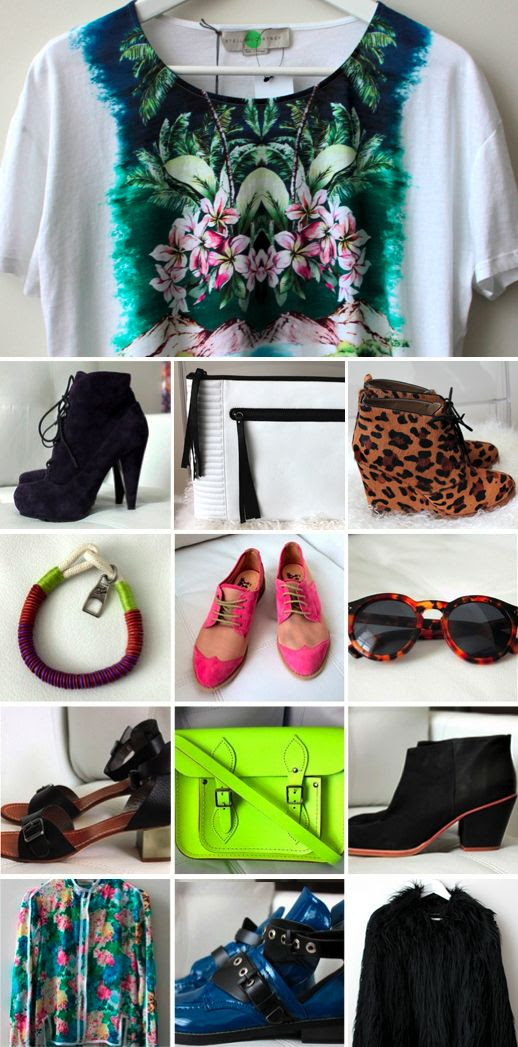 LE FASHION BLOG COPIOUS CLOTHES SHOES ACCESSORIES FOR SALE IILESTEVA LEONARD SUNGLASSES F TROUPE TWO TONE PINK OXFORDS RACHEL COMEY ANKLE BOOTS BLACK FAUX FUR COAT STELLA MCCARTNEY HAWAIIAN PRINT FLORAL TSHIRT TEE SHOEMINT LEOPARD PRINT WEDGE BOOTS CAMBRIDGE SATCHEL COMPANY NEON BAG BALENCIAGA CUT OUT BOOTS LACE UP PURPLE PROENZA SCHOULER BOOTS ROPE BRACELET KENNETH COLE WHITE OVERSIZED MOTO CLUTCH