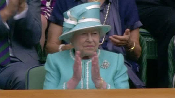 andy murray wimbledon 2010. The Queen Witnesses Murray Win
