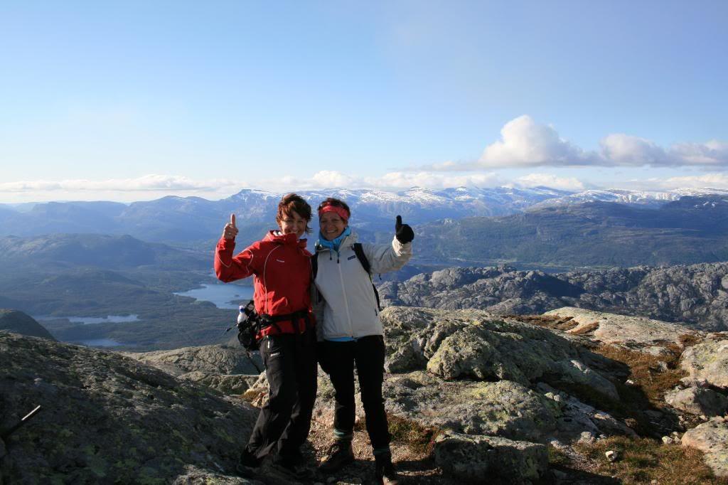 Jeg & Bente på toppen, hiiii-haaa :D