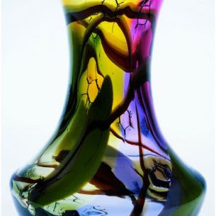 Pyrcak hand blown vase at Boha Glass