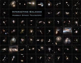 Colección de imágenes de interacciones galácticas de Hubble