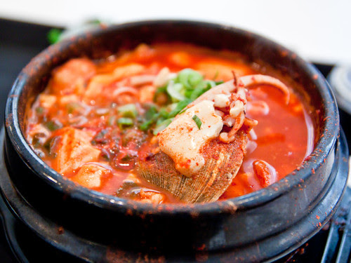 Soondubu (spicy tofu stew)