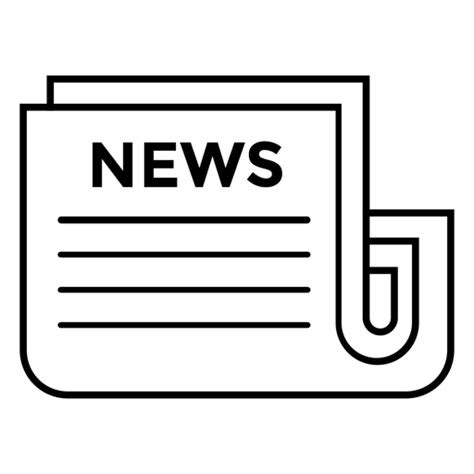 news newspaper icon transparent png svg vector