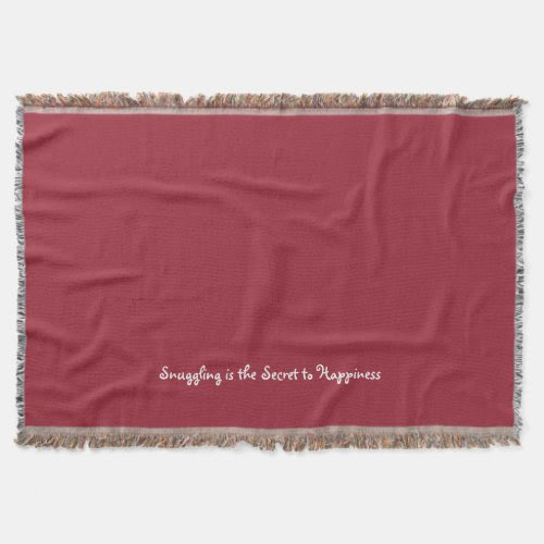 Snuggling Is The Secret | Fun Woven Throw Blanket