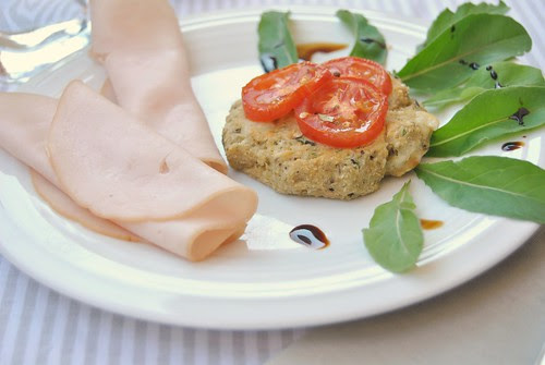 Eggplant and Ricotta Patties with Tomatoes