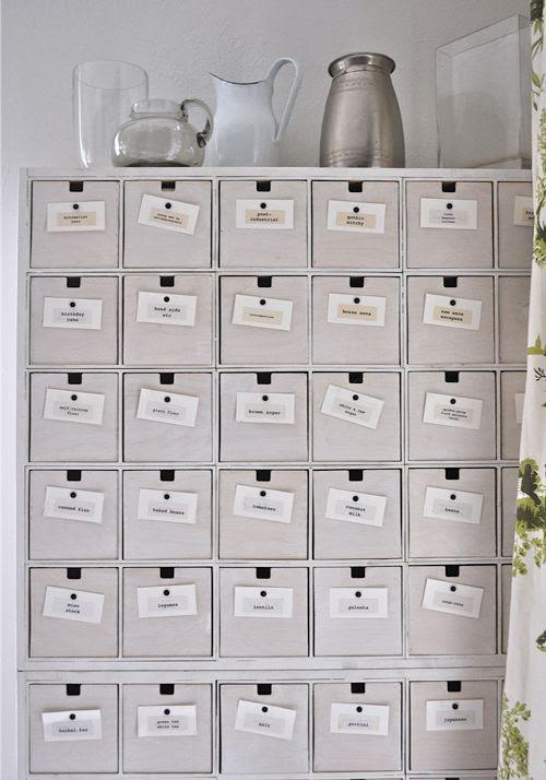 pantry using IKEA CD storage units
