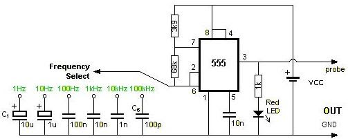 square wave generator using 555 timer