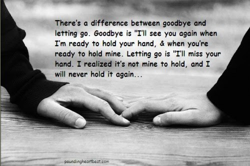 Letting Go Of Someone You Love Picture Quotes