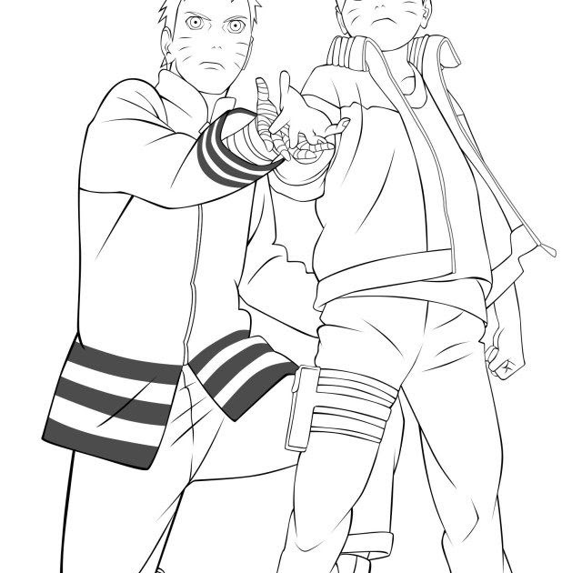 Cute Naruto Team 7 Coloring Pages - TORUNARO