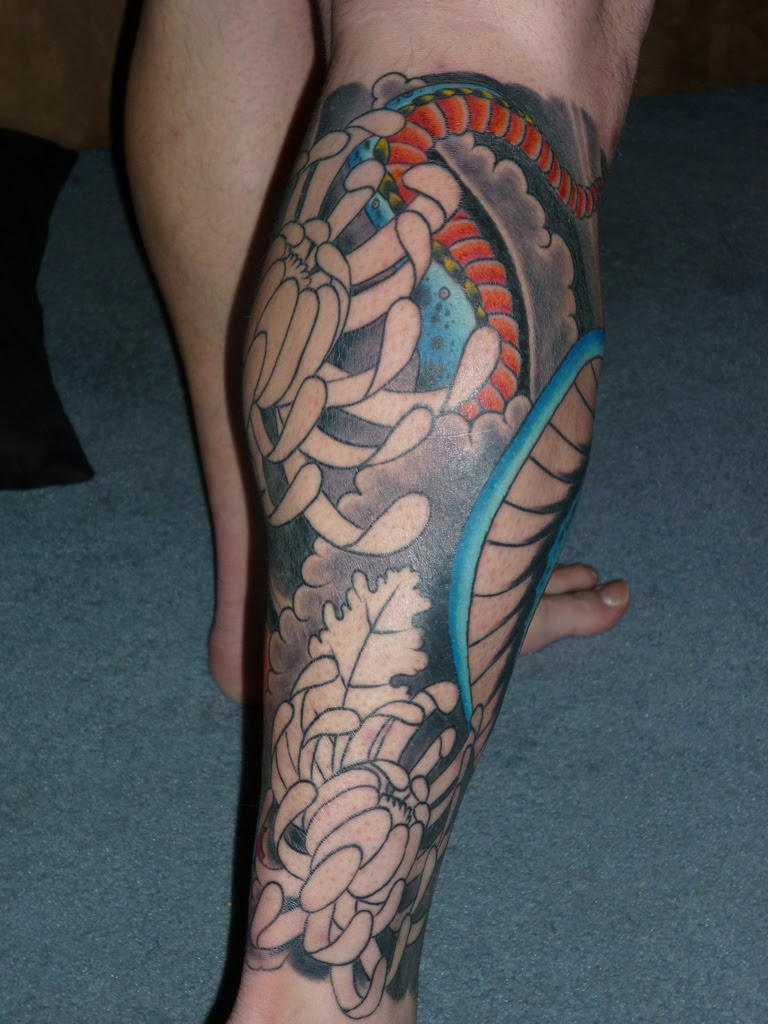 Freehand Skulls Leg Sleeve Tattoos Designs Tattoomagz