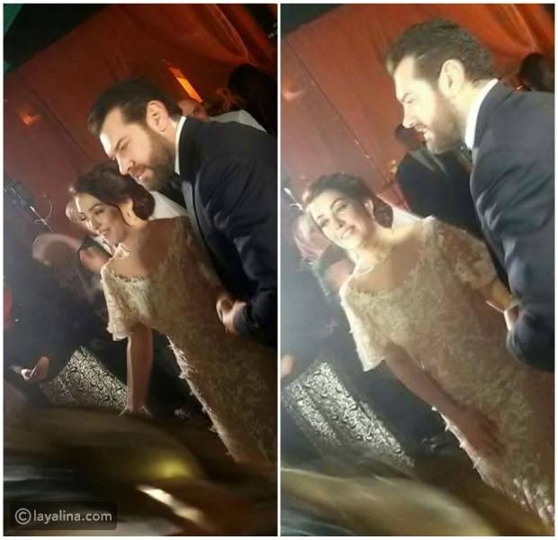 الصورة الرسمية الأولى لعمرو يوسف وكندة علوش من حفل الزفاف