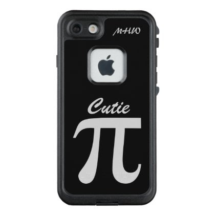 Pi / Cutie Pie custom monogram phone cases