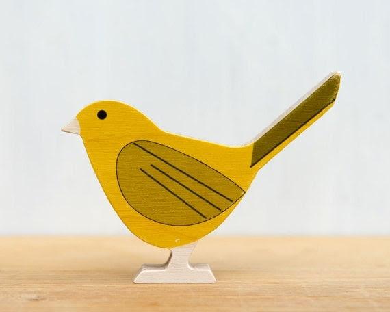 Yellow Bird - Modern Wood Bird, Yellow Warbler