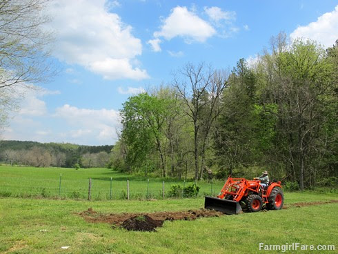 (26-13) Finally leveling out the leach lines, just 18 months after the septic system was put in  - FarmgirlFare.com