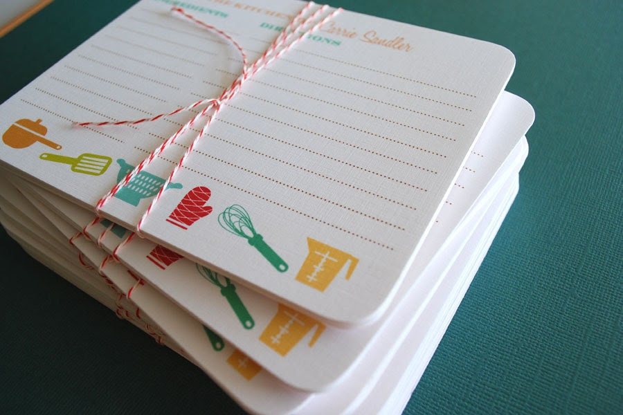 As see on SOUTHERN LIVING Magazine- 2 sets of personalized recipe cards