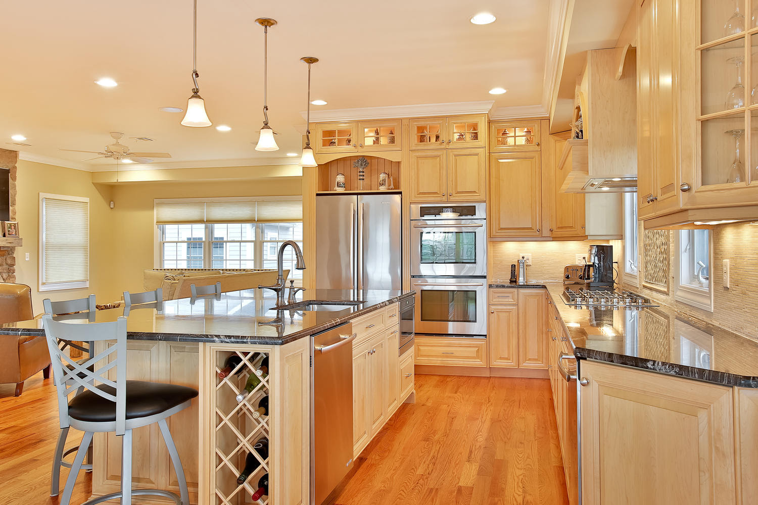 Natural Stained Wood Kitchen Toms River New Jersey By Design Line Kitchens