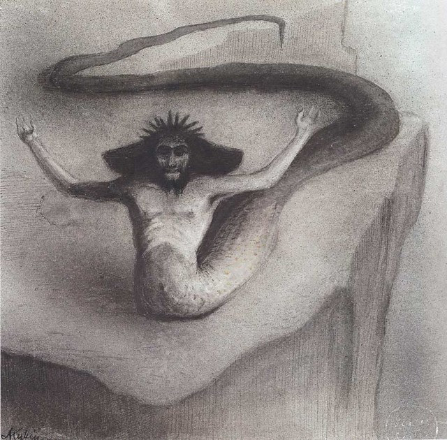 Alfred Kubin - Serpent God, 1902-03