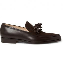 Mr. Hare Genet Tasselled Suede And Leather Loafers