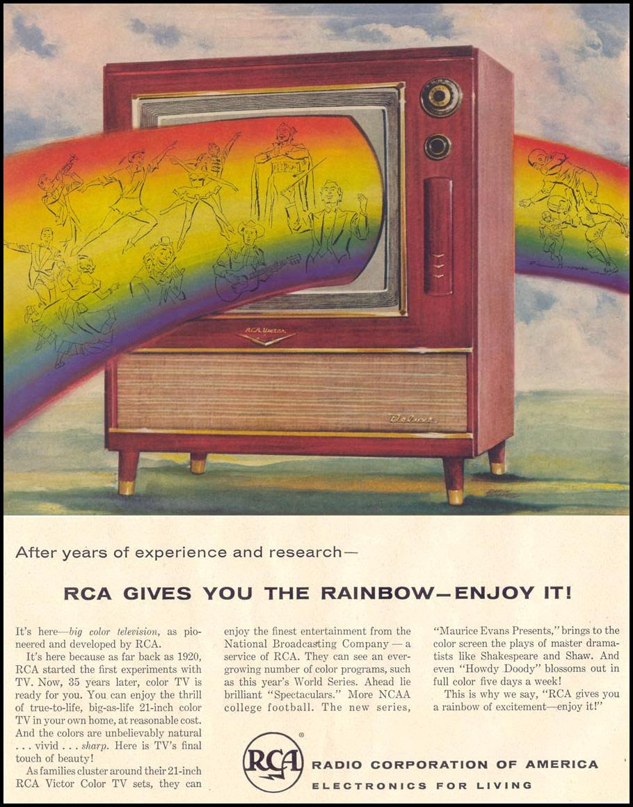 RCA VICTOR COLOR TELEVISION LIFE 11/14/1955 p. 154