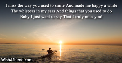 I Miss The Way You Used Missing You Message For Wife