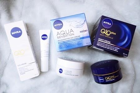 錫住荷包⌒゚(❀>◞౪◟<)゚⌒時刻呵護嬌嫩肌膚 ● NIVEA Q10 Plus 抗皺修護系列