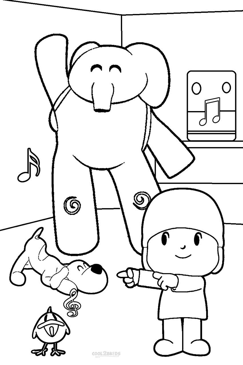 Printable Pocoyo Coloring Pages For Kids | Cool2bKids