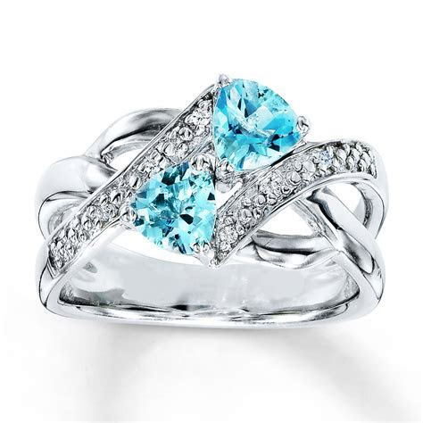 Dreamy wedding jewelry for him and her in colorful Topaz
