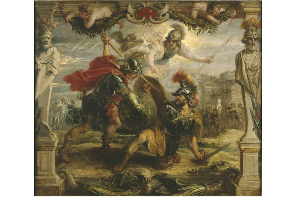 'Achilles Slays Hector,' by Peter Paul Rubens, circa 1630.