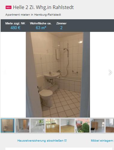 helle 2 zi rahlstedt wollinerstr 53 22143. Black Bedroom Furniture Sets. Home Design Ideas