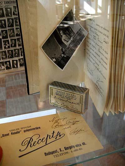 Budapest, Kőbánya, Pataky István Cultural Center, exhibition on the Saint Catherine pharmacy