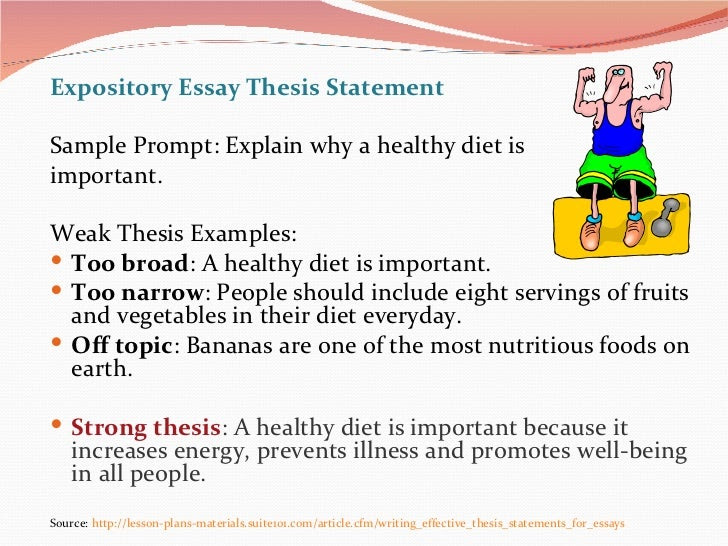 how to make a thesis statement for expository