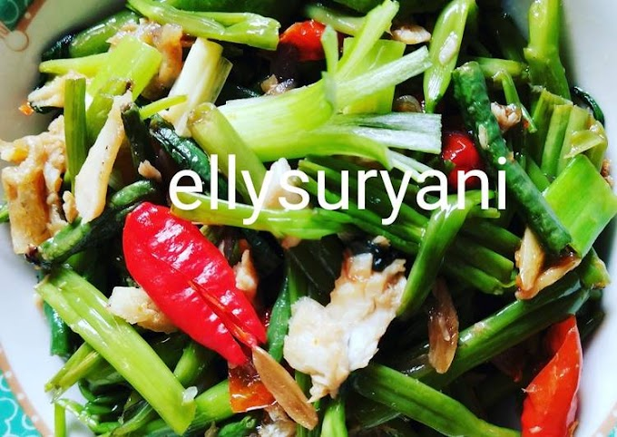 Practical Ways to Cook Cah Kangkung Plus Shredded Gurame Fish Yummy and Fresh Make Nagih