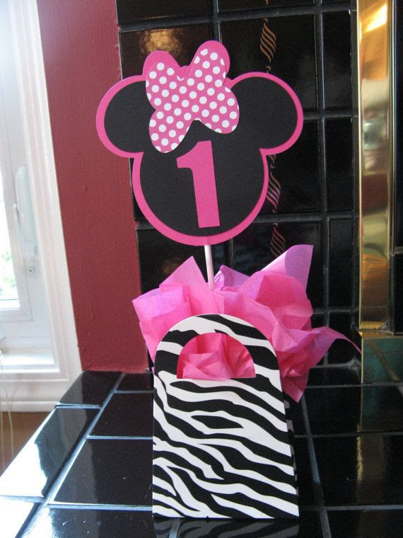 Minnie Mouse centerpiece table decoration AGE colors by missdaisyw, $10.00