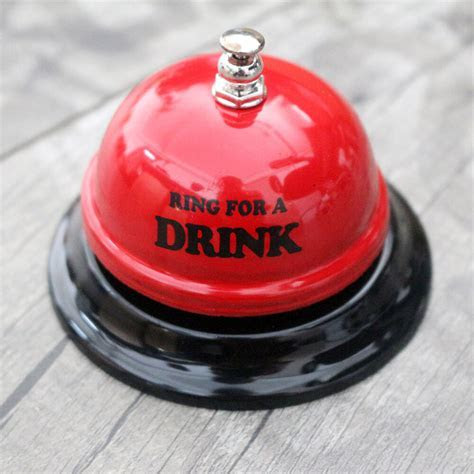 Novelty Red Ring for A Drink Desk Table Bell Party Calling