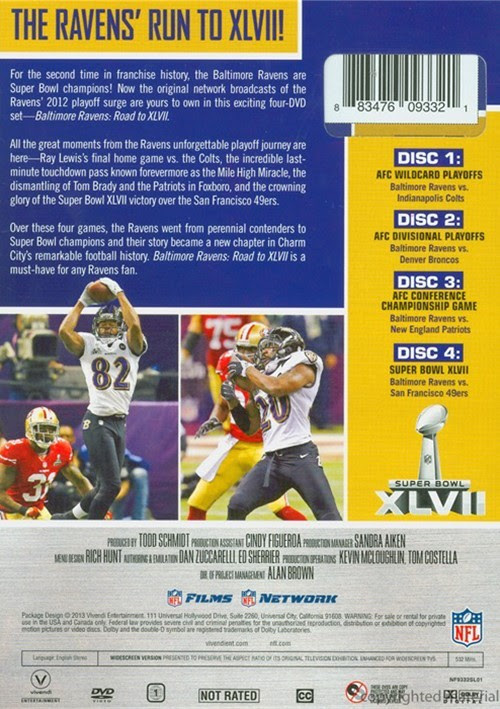 NFL Baltimore Ravens: Road To Super Bowl XLVII DVD 2013  DVD Empire