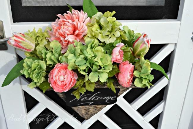 spring wreath with a twist