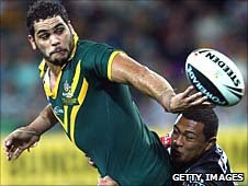Greg Inglis in action for Australia