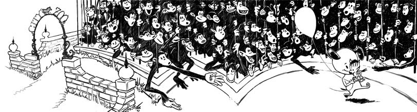 zdepski's line work for the final spread in his ABC book
