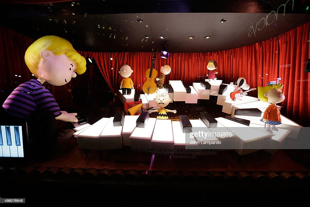 Macy's store window unveiled during Macy's presents 'It's The Great Window Unveiling, Charlie Brown' at Macy's Herald Square on November 20, 2015 in New York City.