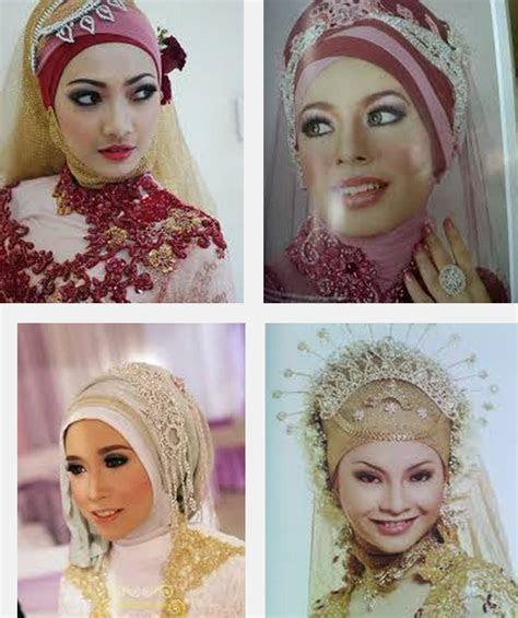 contoh gambar foto model jilbab pengantin muslimah syari